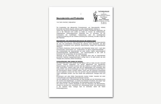 Neurodermitis und Probiotika