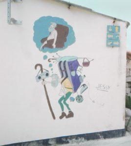 Jakobsweg Wandzeichnung