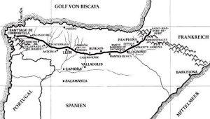 Jakobsweg Landkarte